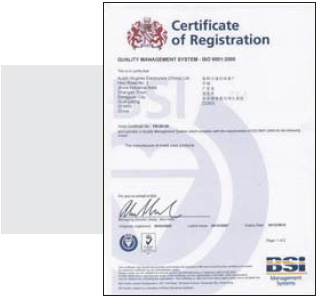 Raloy ISO 9001 Quality Approval